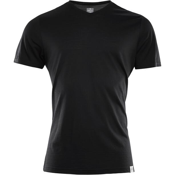 Aclima LightWool V-Neck T-Shirt Men svart