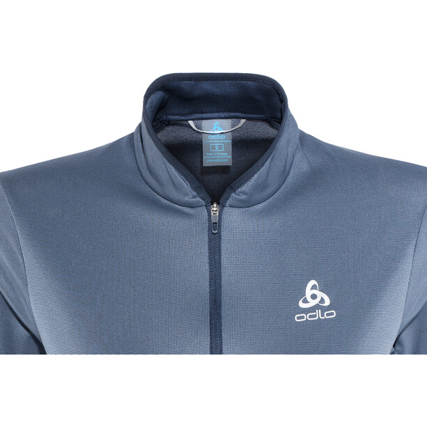 Odlo FLI Full-Zip Midlayer Damen diving navy-blue indigo stripes