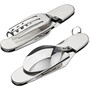 addnature Travel Cutlery Set Stainless Steel silver