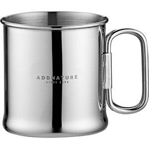 addnature Mug Stainless Steel 300ml with Folding Handle silver silver