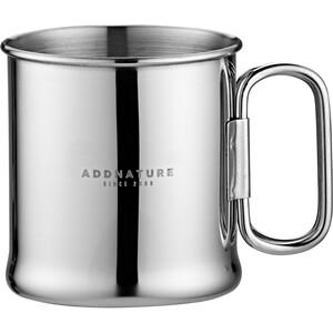 addnature krus Rustfritt stål 300 ml med sammenleggbart håndtak sølv sølv