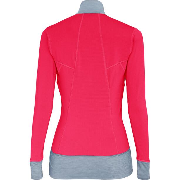 SALEWA Pedroc Polartec Full-Zip Hoodie Damen rose red