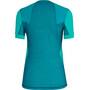 SALEWA Pedroc Hybrid Dry Kurzarm T-Shirt Damen lagoon green melange