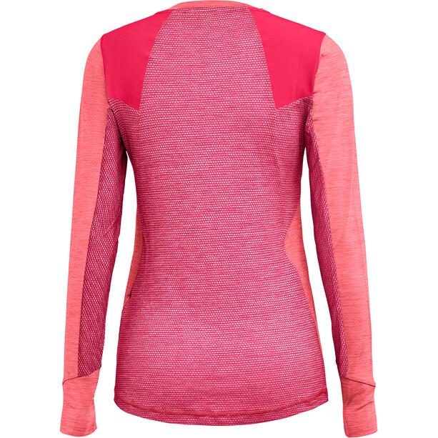 SALEWA Pedroc Hybrid Dry Langarm T-Shirt Damen strawberry melange