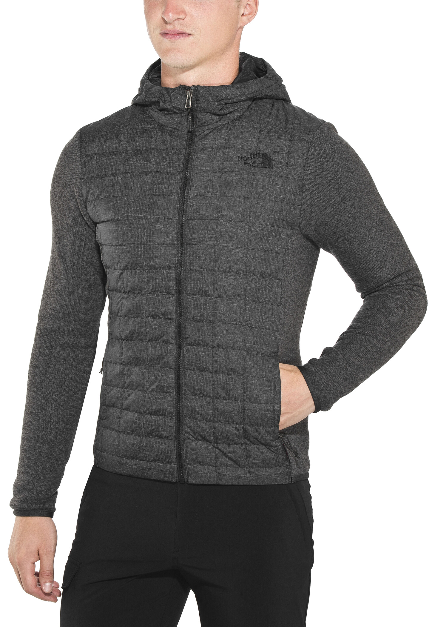 The North Face Thermoball Gordon Lyons Hoodie Jacket Herr tnf blacktnf dark grey heather