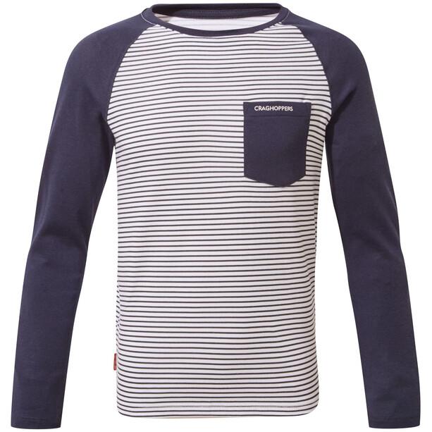 Craghoppers NosiLife Lorenzo Langarm T-Shirt Jungen blue navy stripe/blue navy