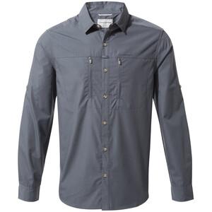 Craghoppers Kiwi Boulder Camicia a maniche lunghe Uomo, blu blu