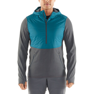 Icebreaker Descender Hybrid LS Half-Zip Hood Herren poseidon/monsoon poseidon/monsoon