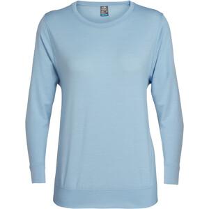 Icebreaker Mira ls crewe skjorte Dame Blå Blå