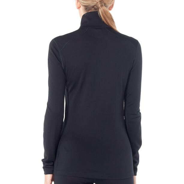 Icebreaker 200 Oasis LS Half Zip Shirt Dam black