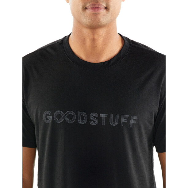 Icebreaker Tech Lite Good Stuff SS Crewe Shirt Herr black