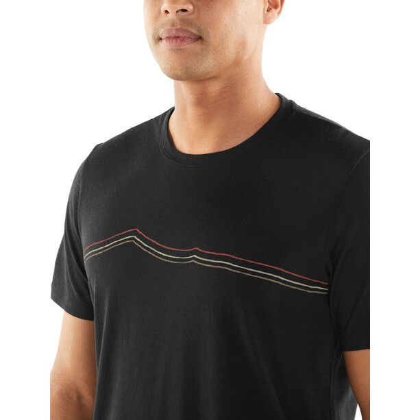 Icebreaker Tech Lite Rangitoto Triple SS Crewe Shirt Herr black
