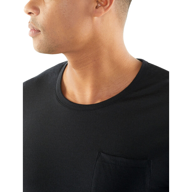 Icebreaker Elmnts SS Pocket Crewe Shirt Herr black