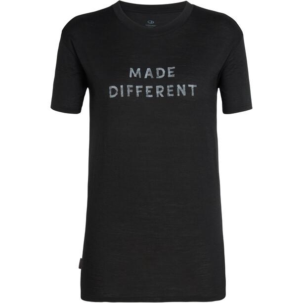 Icebreaker Tech Lite Made Different SS Crewe Shirt Dam black