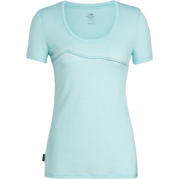 Icebreaker Tech Lite Rangitoto Triple SS Scoop Shirt Dam blå