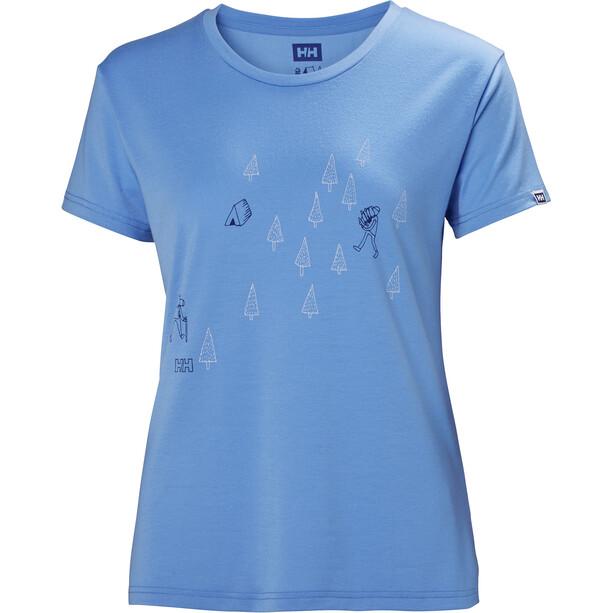 Helly Hansen Skog Graphic T-shirt Dam cornflower