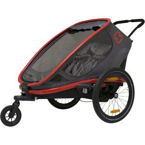 Hamax Outback Remorque vélo, noir/rouge noir/rouge