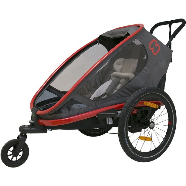 Hamax Outback One Remorque vélo, gris/rouge