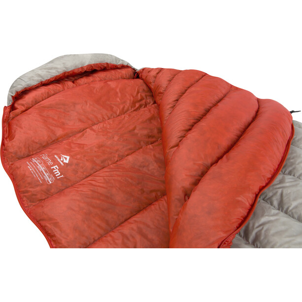 Sea to Summit Flame FmI Sleeping Bag regular Women grå/röd