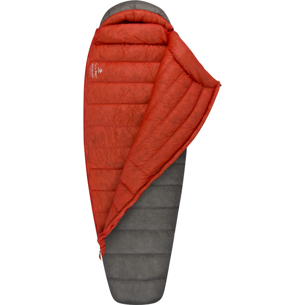 Sea to Summit Flame FmIV Schlafsack Long Damen dark grey/paprika