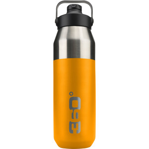 360° degrees Wide Mouth Insulated Drink Bottle with Sipper Cap 750ml orange orange