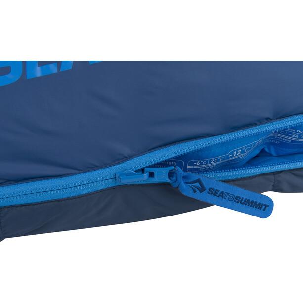 Sea to Summit Trek TkIII Sleeping Bag Long Herr navy/denim
