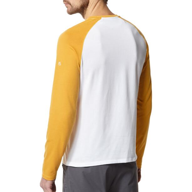 Craghoppers NosiLife Lorenzo Long Sleeved T-Shirt Pojkar indian yellow/optic white