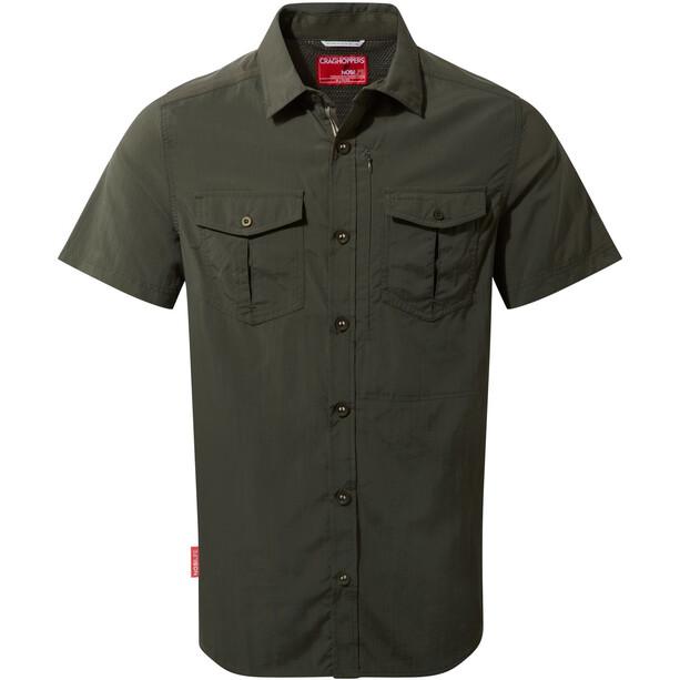 Craghoppers NosiLife Adventure II Short Sleeved Shirt Herr dark khaki