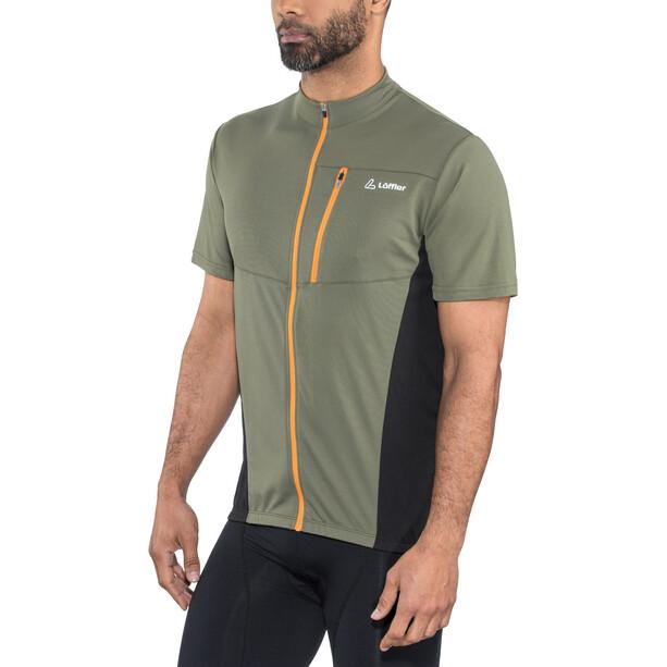 Löffler Rocky Full-Zip Fahrradshirt Herren olive