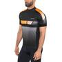 Löffler Hotbond Reflective Bike Jersey Half-Zip Men black/orange