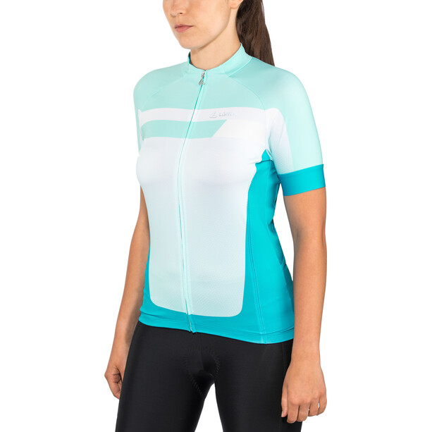 Löffler Hotbond Fahrradtrikot Full-Zip Damen topazblue