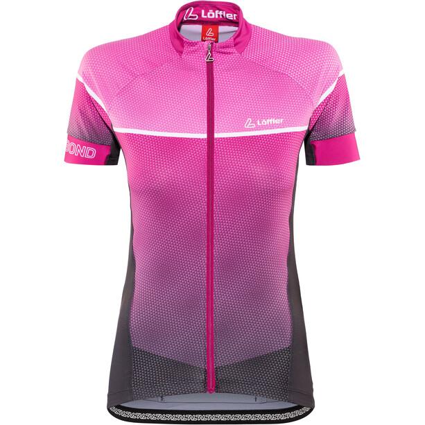 Löffler Hotbond Reflective Bike Jersey Full-Zip Women black/berry