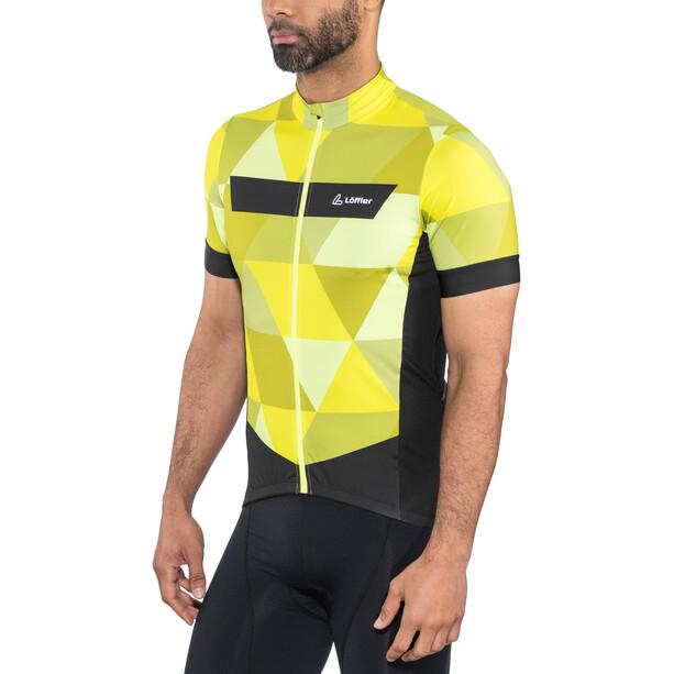 Löffler Metric Fahrradtrikot Full-Zip Herren zitrone
