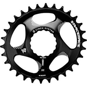 Race Face DM Cinch Oval Chainring 10/11/12-speed ブラック