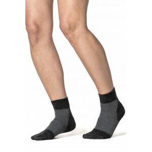 Woolpower Skilled Liner Kurze Socken dark grey/grey dark grey/grey