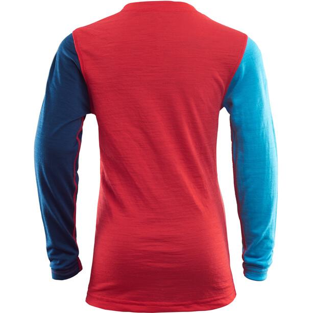 Aclima LightWool Rundhalsshirt Kinder high risk red/ blithe/insignia blue