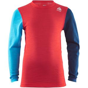 Aclima LightWool Rundhalsshirt Kinder high risk red/ blithe/insignia blue high risk red/ blithe/insignia blue