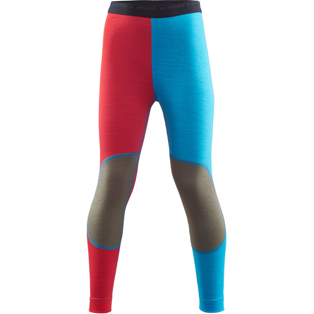 Aclima LightWool Lange Unterhose Kinder high risk red/blithe/ranger green