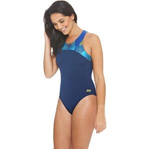 Zoggs Spiro Zippedback Swimsuit Dam navy/multi navy/multi