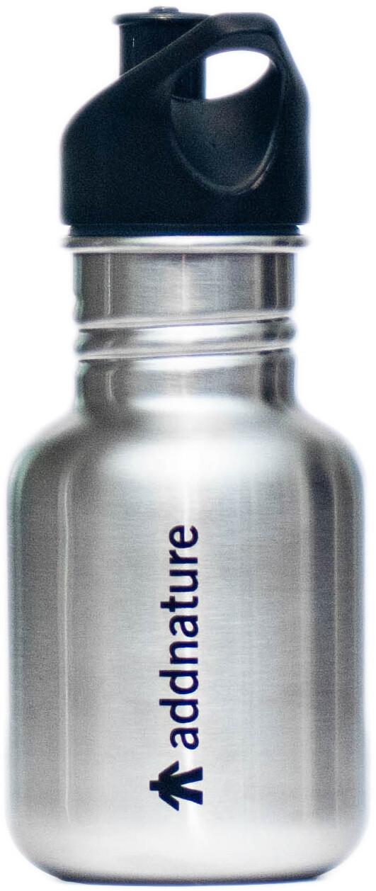 addnature Bottle Stainless Steel 354ml silveraddnature print