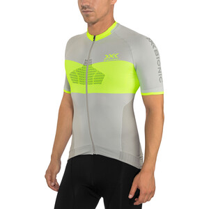 X-Bionic Invent 4.0 Bike Race Zip Trikot SH SL Herren dolomite grey/phyton yellow dolomite grey/phyton yellow