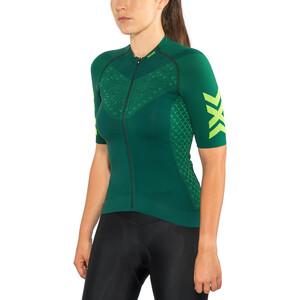 X-Bionic Twyce G2 Fahrrad Zip Trikot SS Damen pine green/amazonas green pine green/amazonas green