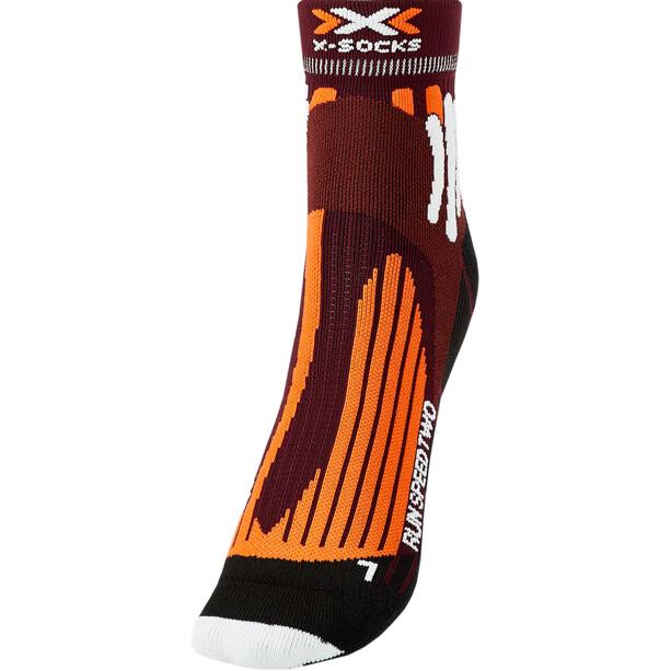 X-Socks Run Speed Two Chaussettes Homme, orange