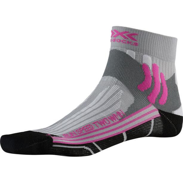 X-Socks Run Speed Two Socken Damen pearl grey /opal black