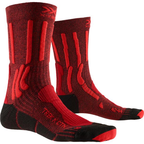 X-Socks Trek X CTN Socken Herren dark ruby/fire red