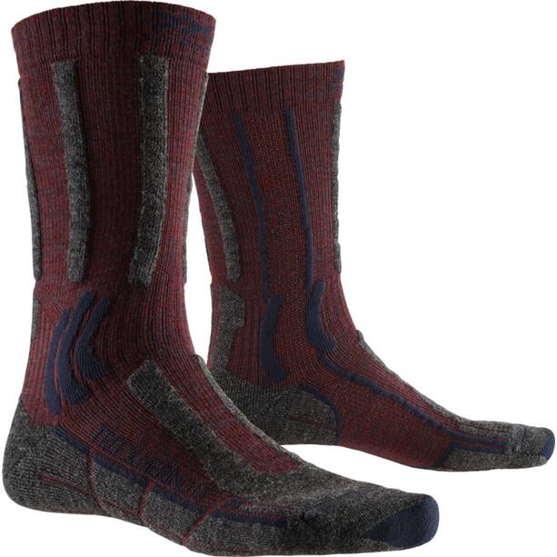 X-Socks Trek X Merino LT Socken dark ruby/midnight blue
