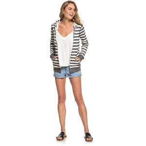 Roxy Trippin Zipper Hoodie Damen black 2x2 stripe black 2x2 stripe