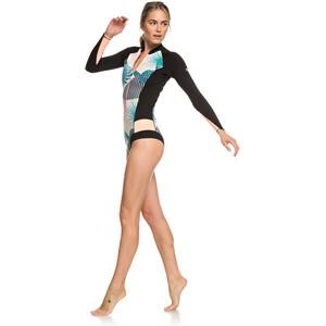 Roxy 1.0 Popsurf Cheeky Spring B-Lock Front Zip Langarm Wetsuit Damen black black