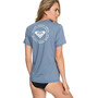 Roxy Enjoy Waves Lycra Shortsleeve Rashguard Damen blue mirage