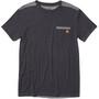 tentree Plane Grain T-Shirt Herren meteorite black/woodgrain all over print black
